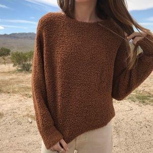Vince Rust Teddy Bear Sweater
